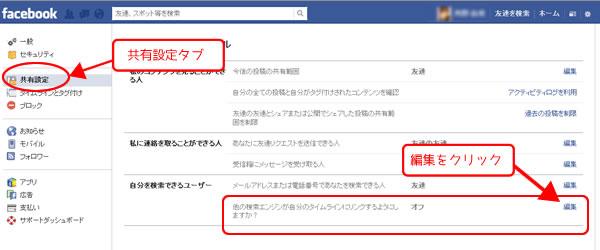 Facebook検索エンジン